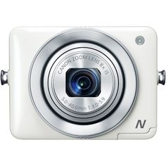 Canon PowerShot N 12.1 MP CMOS Digital Camera with 8x Optical Zoom and 28mm Wide-Angle Lens (White) Canon,http://www.amazon.com/dp/B00AWYN1O6/ref=cm_sw_r_pi_dp_ZWvNsb0VCGP62HZS