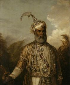 Muhammad Ali Khan, the Nawab of Arcot by Tilly Kettle Norfolk Museums. Mughal Paintings, Old Paintings, Indian Paintings, Vintage Paintings, Vintage Artwork, Vintage Photos, Namaste Art, Royal Indian, Country Bears