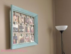 diy instagram photo frame display easily switch out photos
