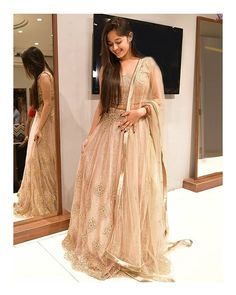 Jannat Zubair looks enchanting in golden outfits and we can't stop staring Indian Fashion Dresses, Indian Designer Outfits, Stylish Girl Images, Stylish Girl Pic, Indian Wedding Outfits, Indian Outfits, Party Wear Dresses, Bridal Dresses, Dresses For Teens