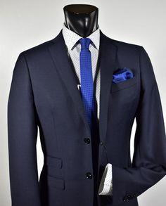 98e9d54bac31 Dark blue dress John barritt slim fit tocket ticket. Moda MaschileAbiti ...