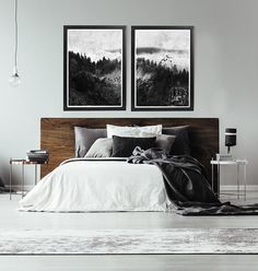 Black And White Forest Print Black And White Abstract Art Print Large Black And White Wall Art Black And White Abstract Wall Art Forest Art - Schlafzimmer Bedroom Apartment, Home Decor Bedroom, Bedroom Ideas, Bedding Decor, Budget Bedroom, Bedding Shop, Bedroom Wall Art Above Bed, Above Bed Decor, Modern Minimalist Bedroom