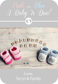 Baby Announcement at Design, Dining +   Diapers