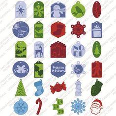 Cricut® Very Merry Tags Seasonal Cartridge: wish list. Make homemade gift tags!