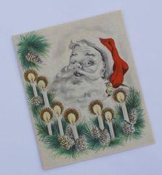 1940s Vintage Santa Christmas Card UNUSED by BettyJanesTreasures, $5.00