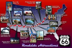route 66 attractions | File:Route 66 Attractions Map.jpg - Wikimedia Commons