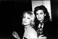 Gia Carangi and Sandy Linter at Studio 54