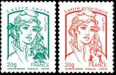 Marianne - a French national symbol, with French definitive stamps | France