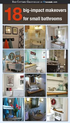 redcottagechronic The post Small Bathroom Makeovers 2019 appeared first on Bathroom Diy. Bathroom Renos, Bathroom Renovations, Bathroom Makeovers, Bathroom Ideas, Washroom, Cheap Bathroom Remodel, Bath Remodel, Budget Bathroom, Small Bathroom Organization