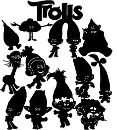 Die Cut Out Silhouette - Trolls, topper card making, scrapbook, Fairy jar, #TrulyHappyDesigns