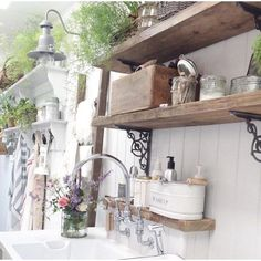 Rustic scaffolding board shelves made to order from up to Each shelf is complete with a pair of our cast iron shelf brackets. Wooden Shelf Design, Wooden Shelf Brackets, Rustic Wooden Shelves, Cast Iron Shelf Brackets, Scaffold Shelving, Decor Interior Design, Interior Decorating, Decorating Ideas, Clothes Shelves