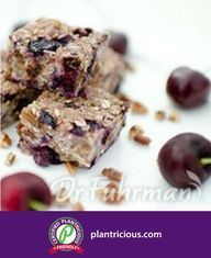 Dr. Fuhrman's Antioxidant-rich Breakfast Bars New Recipes, Whole Food Recipes, Healthy Recipes, Breakfast Bars, Breakfast Recipes, Eat To Live, Healthy Eating, Healthy Life, Healthy Food