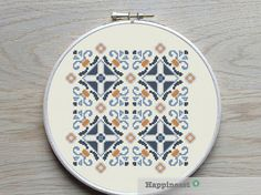 geometric cross stitch pattern, moroccan ornament, modern cross stitch, PDF ** instant download**