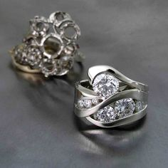 Restyle using several of the customer's rings. The new design turned out gorgeous! Douglas Fine Jewelry in Bend, Oregon