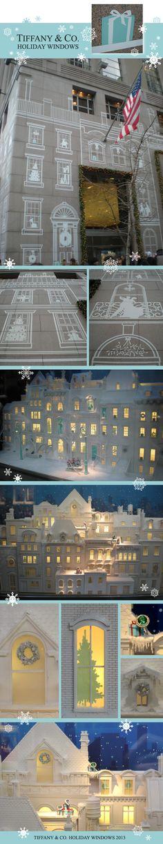 Tiffanys Manhattan Christmas 2013 window display #decals #holidays #nyc