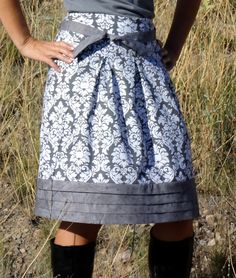 My Fabric Obsession: Joel Dewberry Meadow Spirit Skirt: Pattern Review #sewing