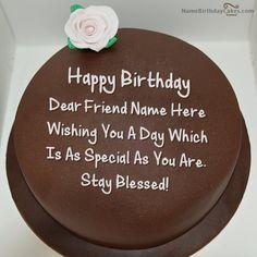 Happy Birthday Friend Meme birthday cakes with name Pinterest