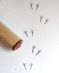 nora jane - rubber stamp: bird tracks