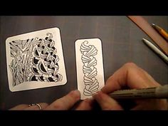 How to Draw Tangle Pattern Organic Lesson # 22 - YouTube