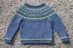 """Free knitting pattern! """"Fimma"""" Icelandic sweater (kids' sizes 4, 6 & 8 years)"""