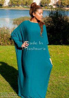 Abaya Sonia couleurs: noir, marron, gris foncé, gris clair, kaki, bleu marine, bleu canard, bleu ciel, rose poudré, violet, prune, bordeaux, moutarde, orange