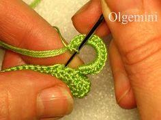 padded irish crochet