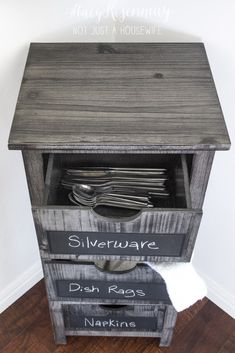 Use a small dresser for kitchen drawers