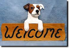 Jack Russell Rough Welcome Sign