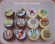 Fishing themed cupcakes x