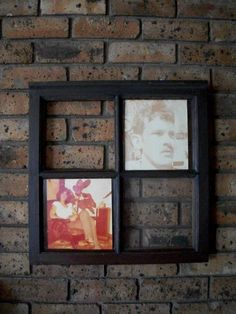 couldnt find a nice enough frame to put my parents photos in... found this old window at the dumpyard. decoparged the photos on the glass and wala!