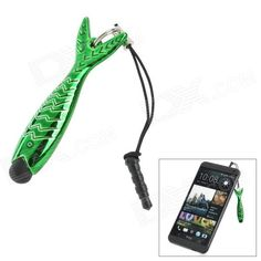 Color: Green + Black; Brand: no; Quantity: 1 Piece; Material: ABS; Compatible Models: Iphone / HTC / Samsung etc; Stylus Features: With Anti-dust Plug; Stylus Length: 5.3 cm; Packing List: 1 x Stylus; http://j.mp/1toqXLI