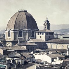 This is from behind my apartment view during my italian summer- 2009. Over the San Lorenzo market. Firenze.