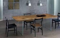 Image result for legno vetro tavolo