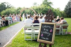 Beautiful Easel! Wedding DIY wedding at Greenwell State Park www.greenwellfoundation.org. Photo by Amanda Adams.