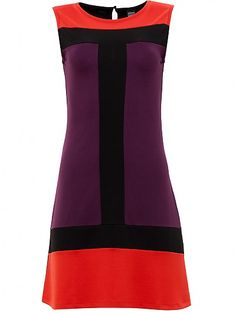 Carly Mod Dress, red/purple/black