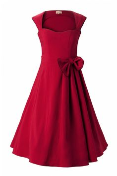 vintage womens dresses 1950's | Lindy Bop 1950's Grace Red Bow vintage style swing party rockabilly ...