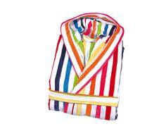 Peignoir de bain rayures multicolores #peignoir #rayures #becquet