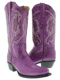 Womens cowboy boots ladies classic western rodeo dance riding biker sexy