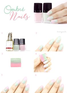 DIY Ombré nails.