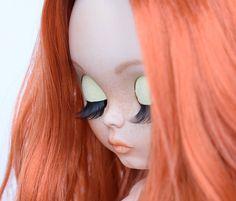 OOAK custom Blythe doll. Redhead doll Blythe.