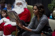 First Lady Michelle Obama brings holiday cheer to sick kids.