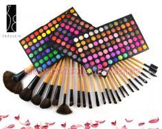 Trusa Farduri 252 culori Fraulein38 + 24 pensule machiaj lemn lacuit Art Supplies, Pencil