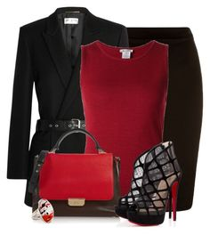 """Untitled #1125"" by lisamoran ❤ liked on Polyvore featuring Yves Saint Laurent, Oscar de la Renta, Emilio Pucci and Christian Louboutin"