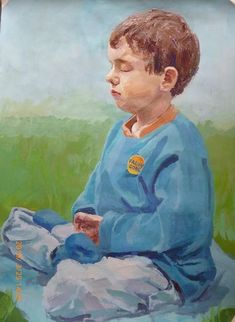 [Celebrating World Falun Dafa Day] Gouache: A Young Falun Gong Practitioner