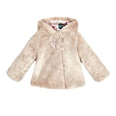 a998840e64ed2e Baker by Ted Baker Baby girls  pink faux fur coat