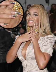 Image detail for -Beyonce Knowles Grammy Awards Gold Hologram Minx nails Rihanna Is So ...