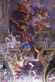 Rom, Piazza Sant' Ignazio, Kirche Sant'Ignazio, Amerika im Deckenfresko von Andrea Pozzo (St. Ignatius Church, America in the ceiling fresco by Andrea Pozzo)   par HEN-Magonza