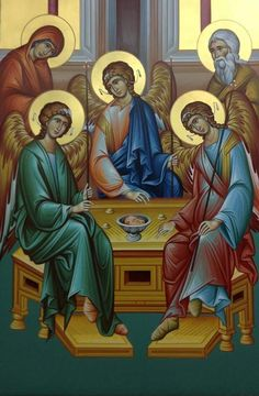 Abraham And Sarah, Orthodox Christianity, Old Testament, Religion, Angels, Painting, Fictional Characters, Catholic Art, Faith