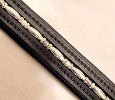 Bling Beaded Dressage English Bridle Browband Cob-OS