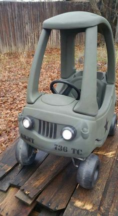 Little tikes makeover – army jeep by melody - Modern Projects For Kids, Diy For Kids, Diy Projects, Little Tykes Car, Toddler Toys, Kids Toys, Little Tikes Makeover, Cozy Coupe Makeover, Jeep Baby